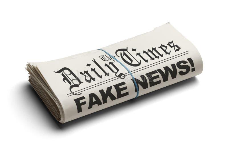 Het Valse Nieuws van Daily Times stock foto
