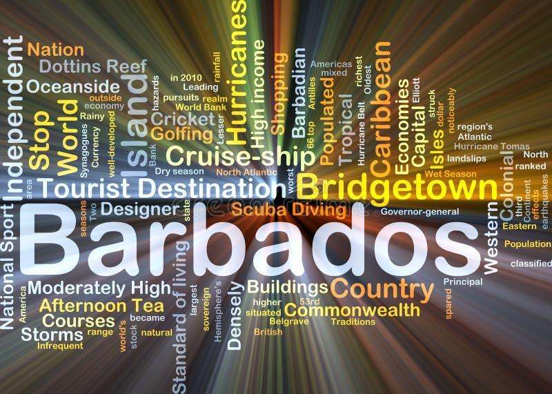 Het van achtergrond Barbados concept gloeien vector illustratie