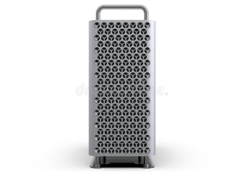 Het van Apple Mac Pro 2019 bureaucomputersysteem, voorzijde royalty-vrije illustratie
