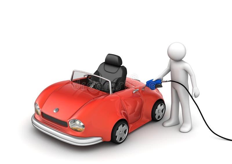 Het van brandstof voorzien van de auto royalty-vrije illustratie