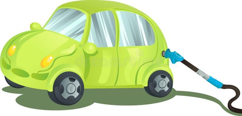 Het van brandstof voorzien van een auto met benzine vector illustratie