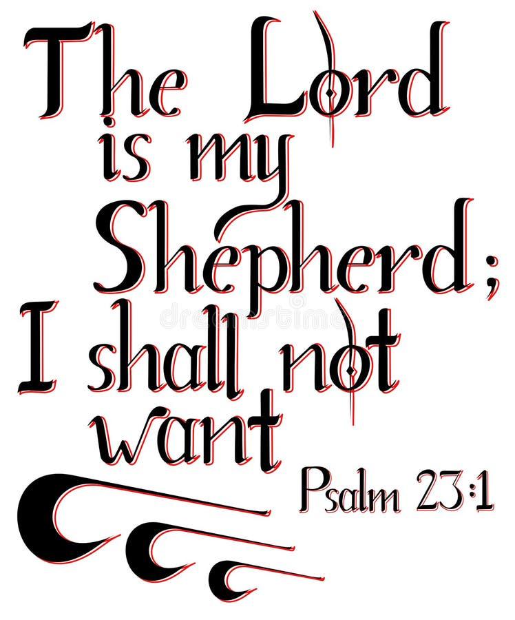 Het van letters voorzien van 'Lord is mijn Herder ' stock illustratie