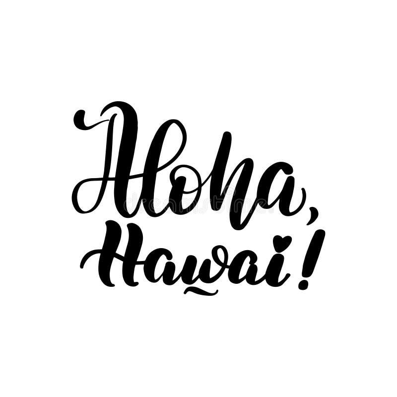 Het van letters voorzien aloha Hawai royalty-vrije illustratie