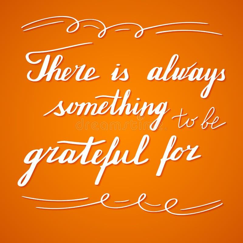 Het van letters voorzien en de kalligrafieontwerp van de dankzeggingshand stock illustratie