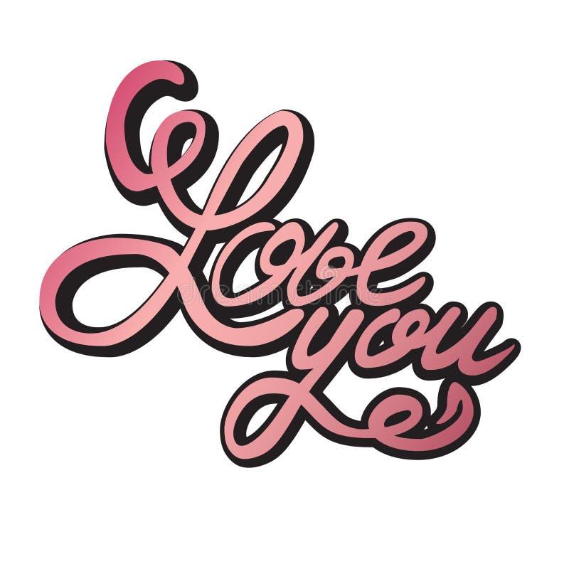 Het van letters voorzien I LIEFDE U stock illustratie