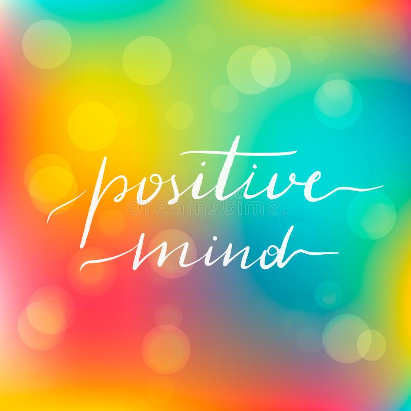 Het van letters voorzien inschrijvings positieve mening motivating stock illustratie