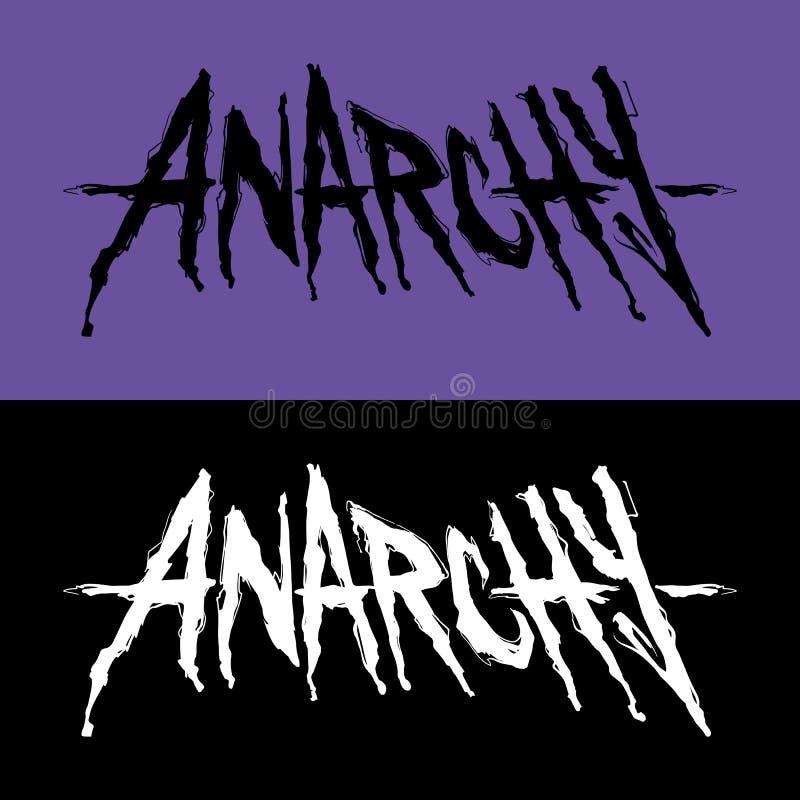 Het van letters voorzien met afzonderlijk woordanarchie stock illustratie