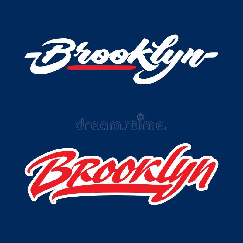Het van letters voorzien van Brooklyn logotype Het element van het ontwerp royalty-vrije illustratie