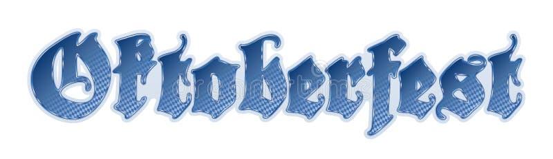 Het van letters voorziend Duits/München Oktoberfest vector illustratie