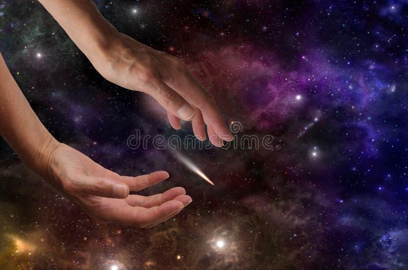 Het vangen van een Komeet stock afbeeldingen