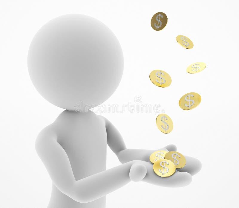 Het vangen van geld royalty-vrije illustratie