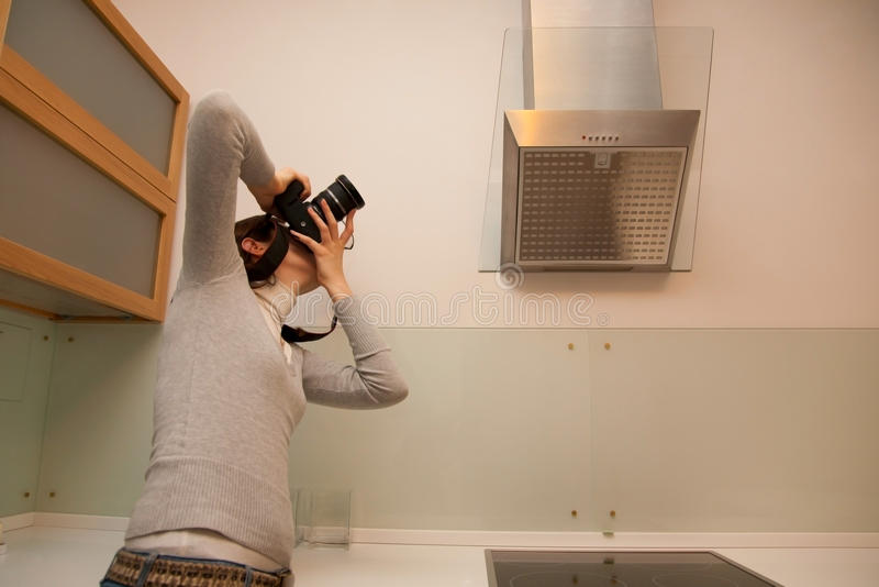 Het vangen van keuken stock foto