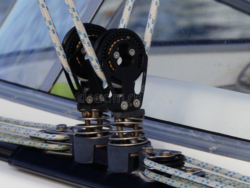 Het varen bootdetails stock afbeelding