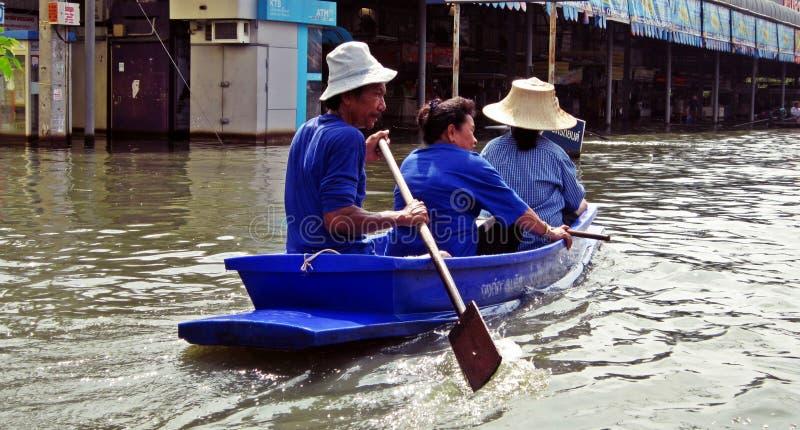 Het varen door Floodwater 2 stock afbeeldingen
