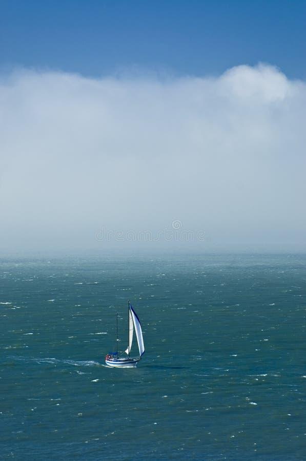 Het varen op de Baai van San Francisco stock afbeeldingen
