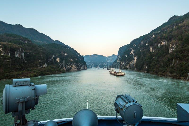 Het varen op de Yangtze-Rivier royalty-vrije stock foto