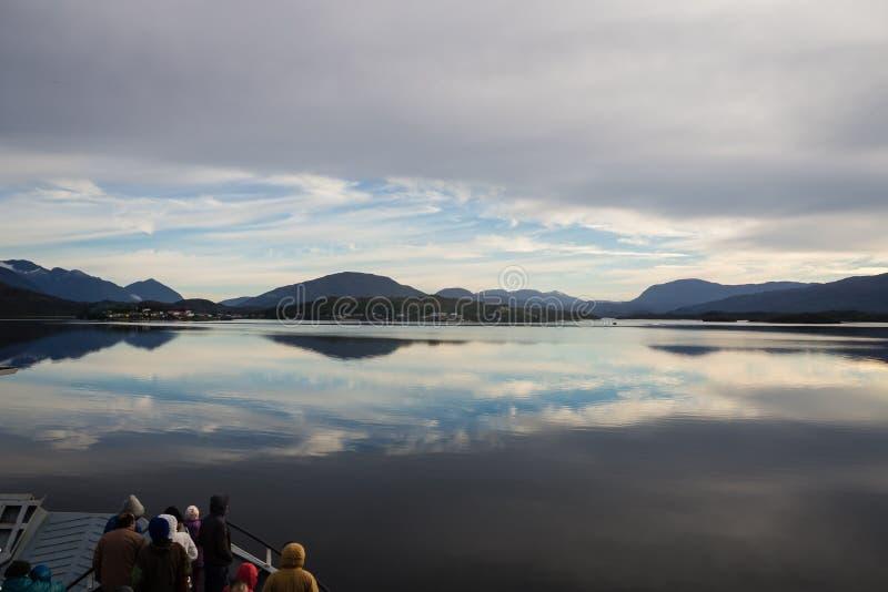 Het varen over meer Argentino royalty-vrije stock foto