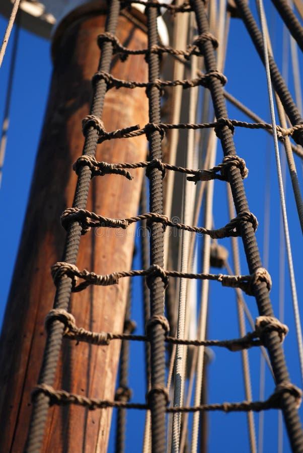 Het varen schipdetail stock afbeelding