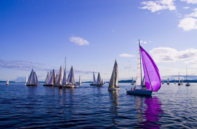 Het varen in Seattle stock fotografie