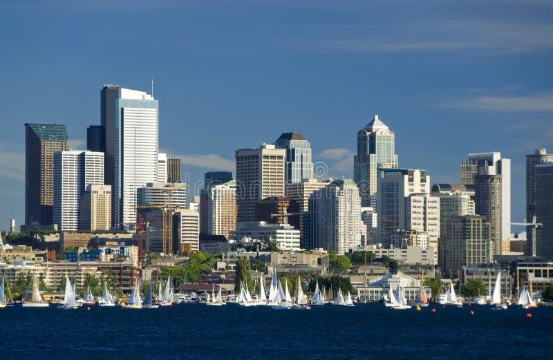 Het varen in Seattle royalty-vrije stock foto's