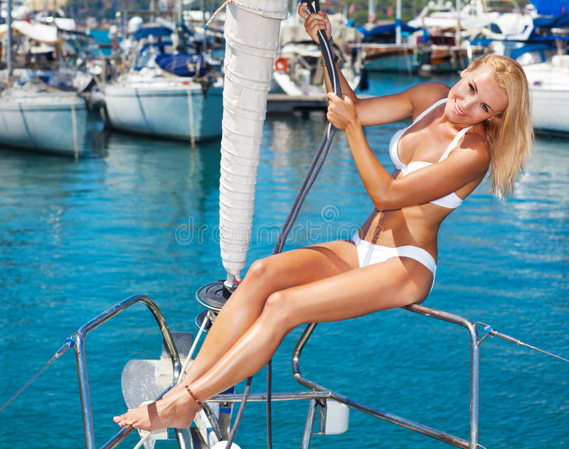 Het varen van de zomer vakantie royalty-vrije stock foto's