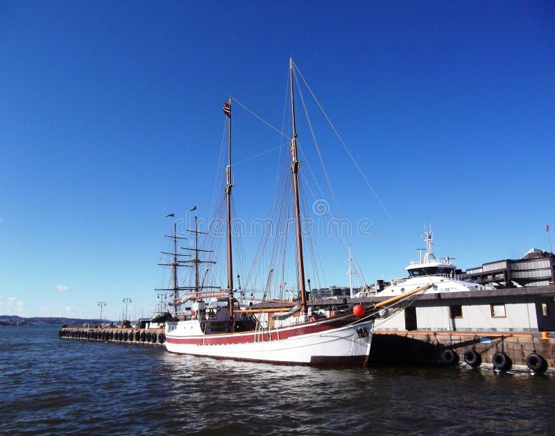 Het varende jacht Haven stock foto's