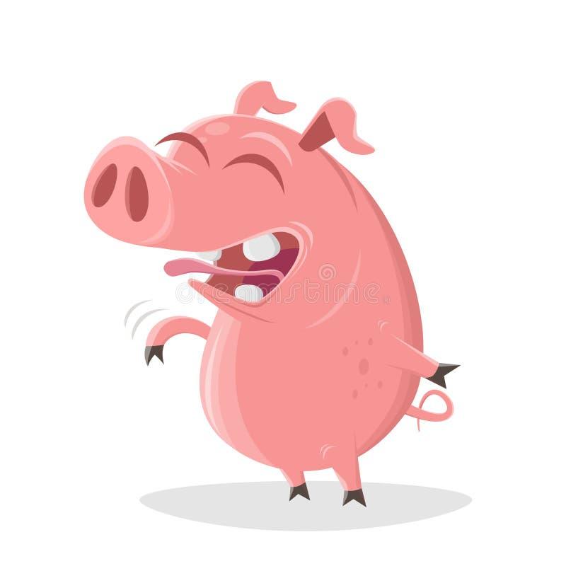 Het varken lacht over een goede grap vector illustratie