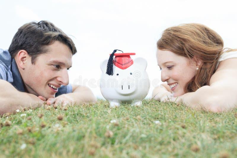 Het varken van de paareconomie royalty-vrije stock foto