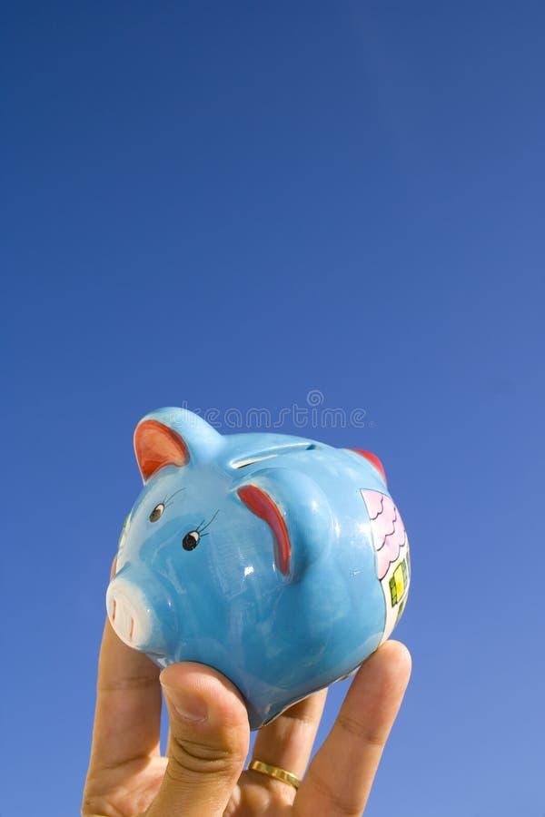 Het Varken van het geld in de Hemel stock fotografie