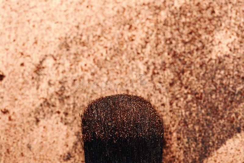 Het Varkenshaar van de schoonheidsborstel met Samenstellingsdeeltjes royalty-vrije stock afbeelding