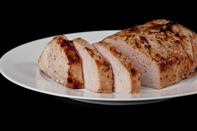 Het varkensvleeslendestuk van het braadstuk stock afbeelding