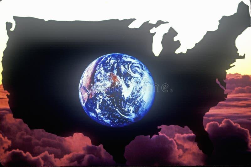 Het vasteland van Verenigde Staten royalty-vrije illustratie