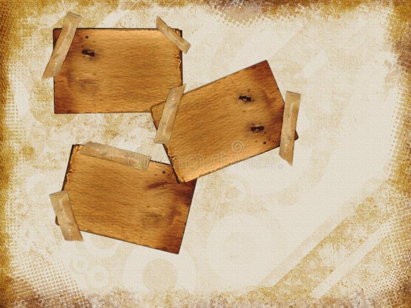 Het vastgebonden Document van het Karton royalty-vrije illustratie