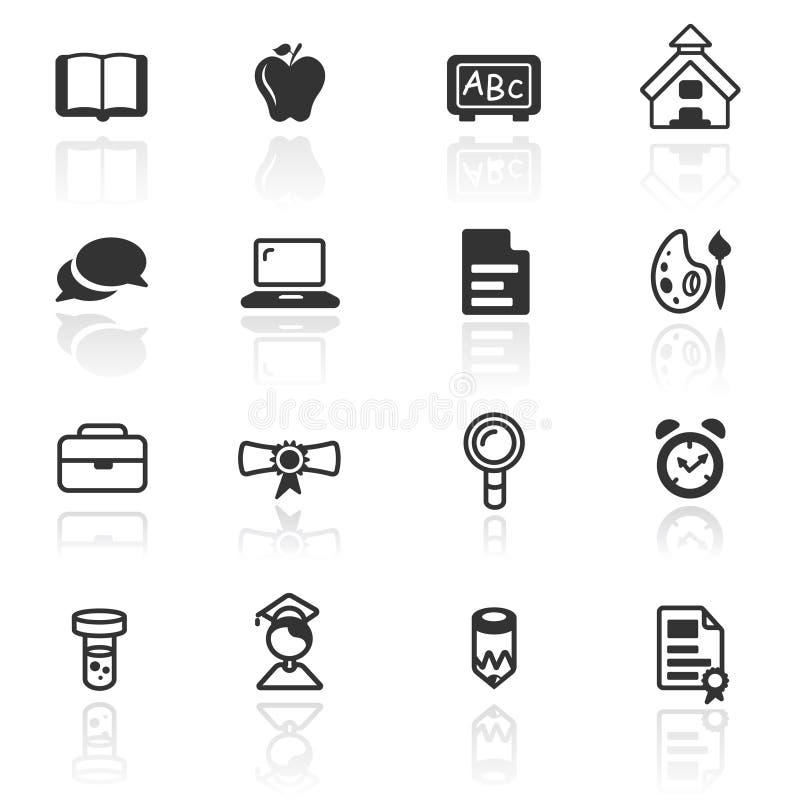 Het vastgestelde onderwijs van het pictogram royalty-vrije illustratie