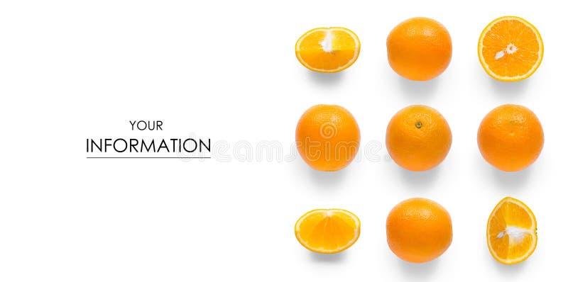 Het vastgestelde oranje halve patroon van de fruitcitrusvrucht stock fotografie