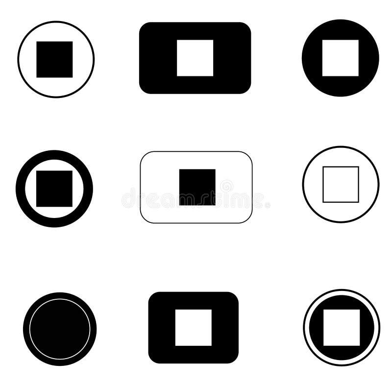 Het vastgestelde pictogram van de eindeknoop op witte achtergrond Vlakke stijl het pictogram van de eindeknoop voor uw websiteont vector illustratie