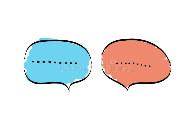Het vastgestelde pictogram van het praatjebericht vector illustratie