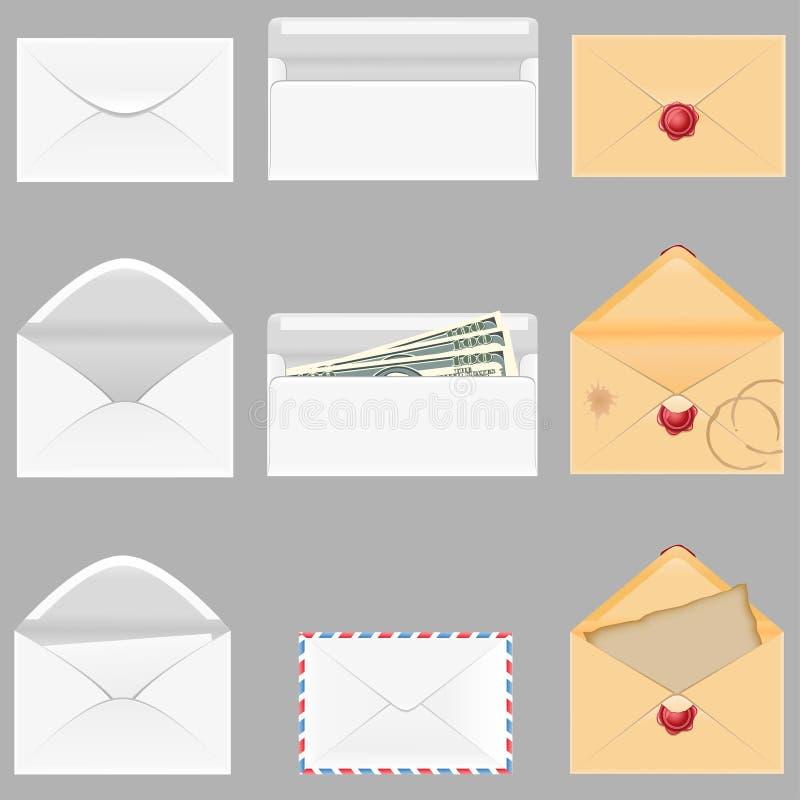 Het vastgestelde pictogrammendocument wikkelt vectorillustratie royalty-vrije illustratie