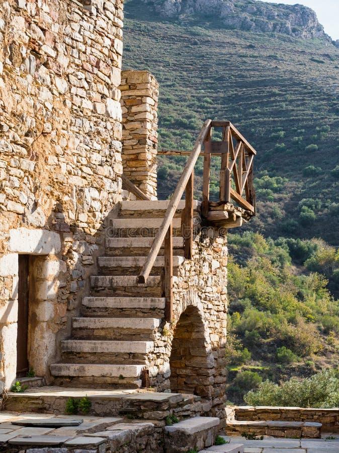 Het Vathia-dorp in Griekenland royalty-vrije stock afbeeldingen