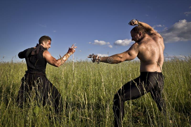 Het vechten actie stock afbeelding