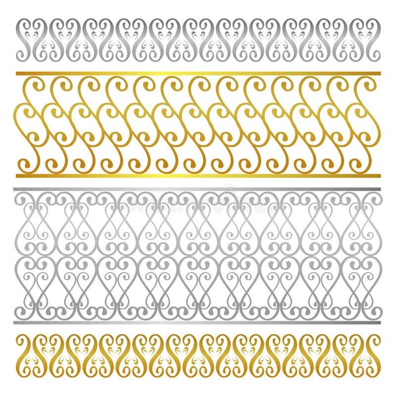 Het vector abstracte artistieke patroon van het omheiningsdamast stock illustratie
