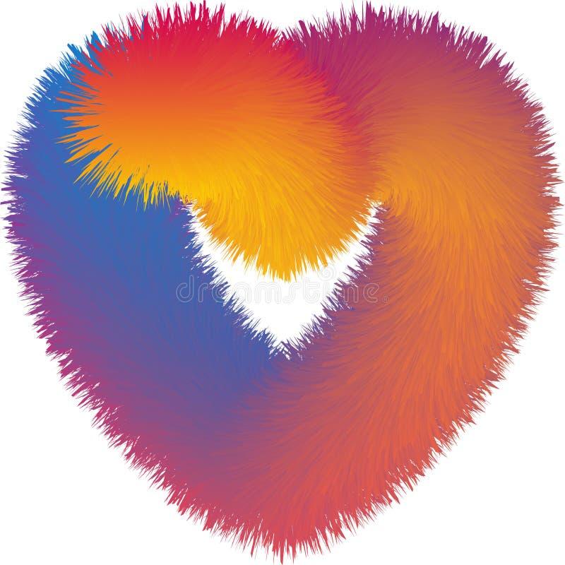 Het vector Abstracte kleurrijke bonthart mengen, gradi?nteffect, kleurrijke illustratie royalty-vrije illustratie