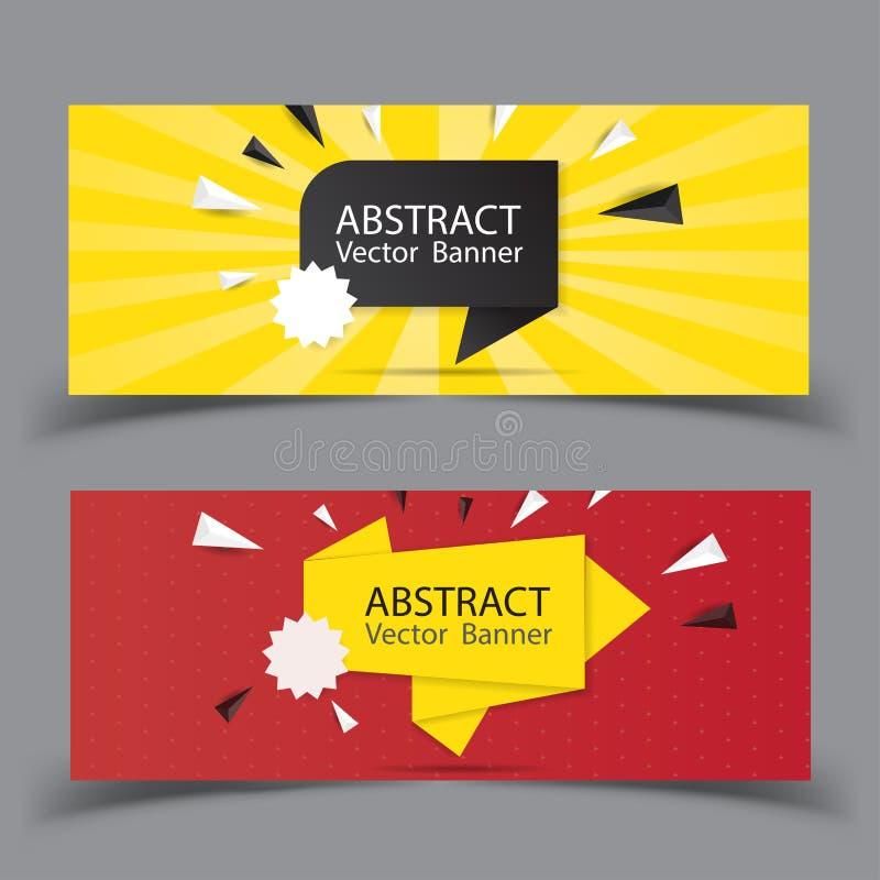 Het vector abstracte malplaatje van de ontwerpbanner Perfect ontwerp als achtergrond voor krantekop en verkoopbanner royalty-vrije illustratie