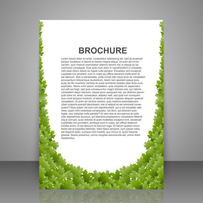 Het vector abstracte malplaatje van het brochureontwerp De lente groen gebladerte vector illustratie