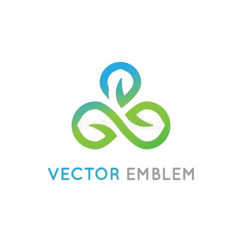 Het vector abstracte malplaatje van het embleemontwerp voor alternatief royalty-vrije illustratie