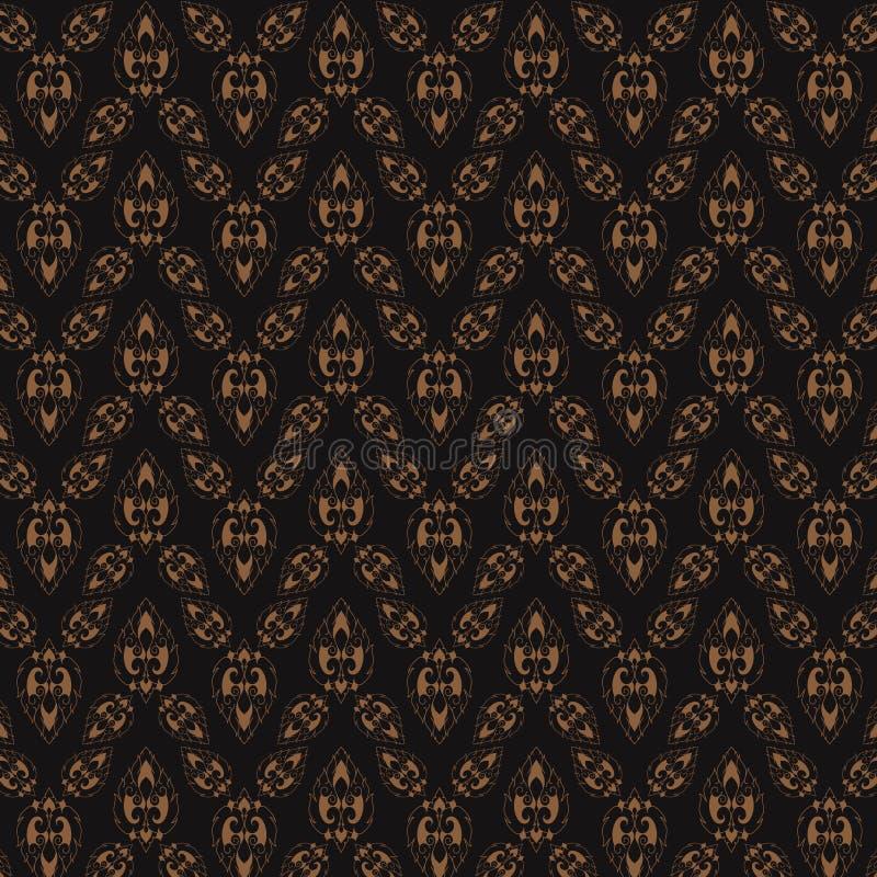Het vector abstracte van het ontwerpsiam van de achtergrondluxeelegantie naadloze patroon stock illustratie