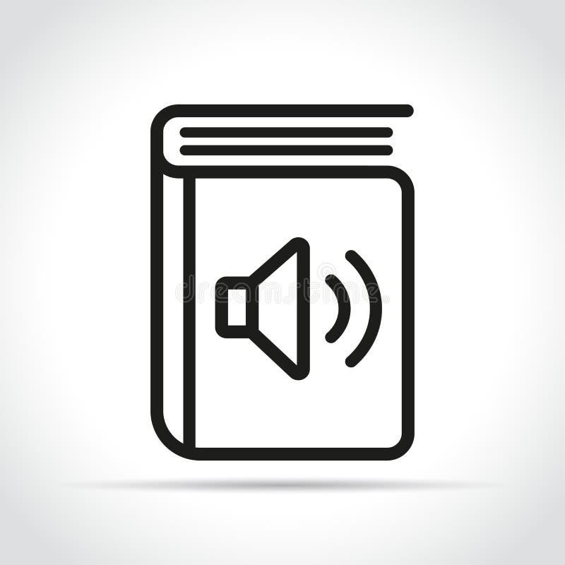 Het vector audioontwerp van het boekpictogram stock illustratie
