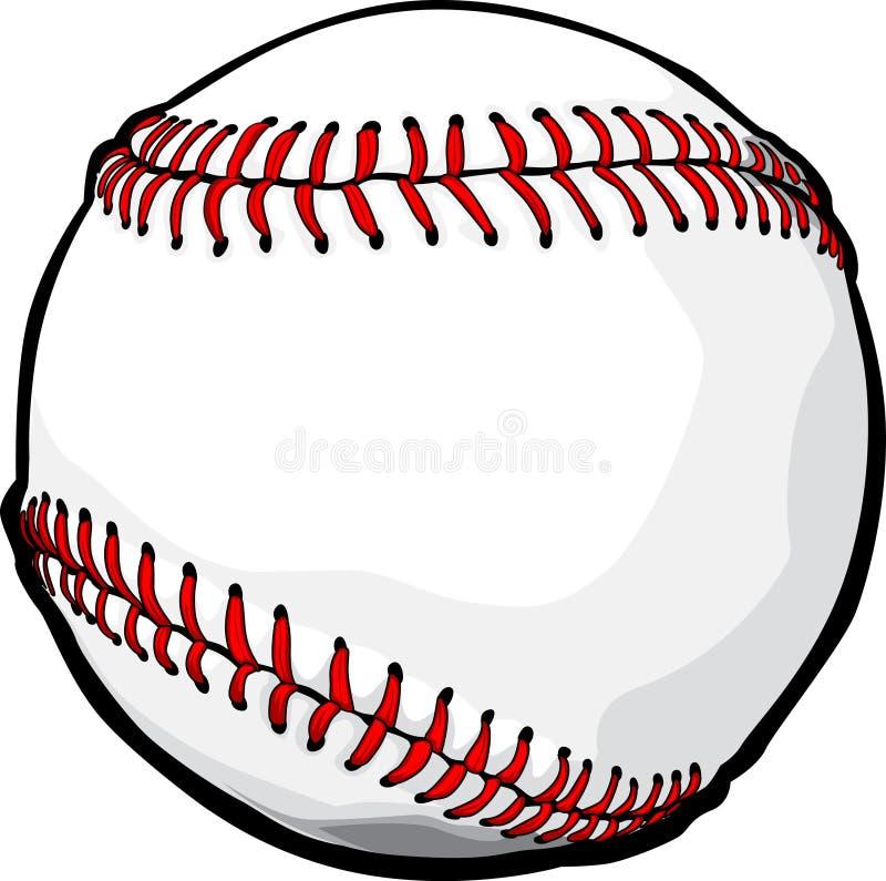Het vector Beeld van de Bal van het Honkbal royalty-vrije illustratie