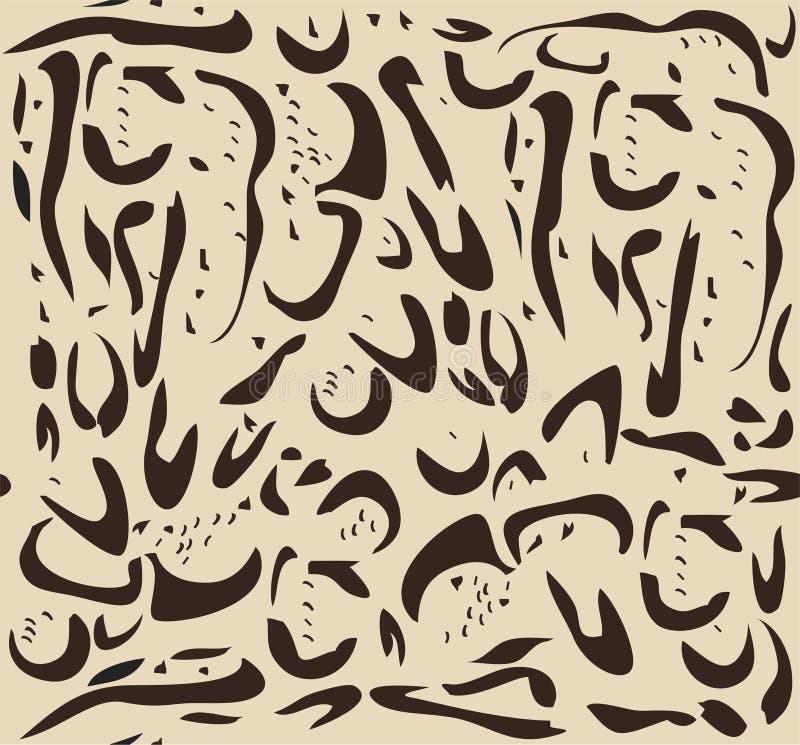 Het vector Betrokken Patroon van het Luipaardbont stock illustratie