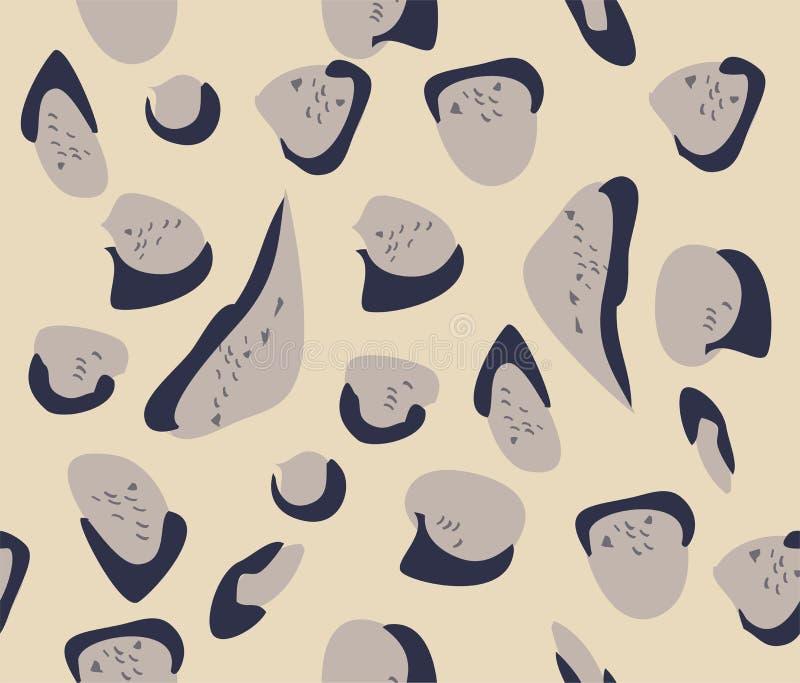 Het vector Betrokken Patroon van het Luipaardbont royalty-vrije illustratie